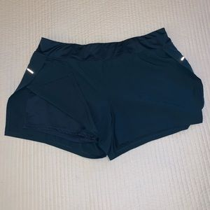 Avia running shorts with spandex underneath XL